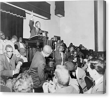 Rev. Martin Luther King, Jr., Speaking Canvas Print by Everett