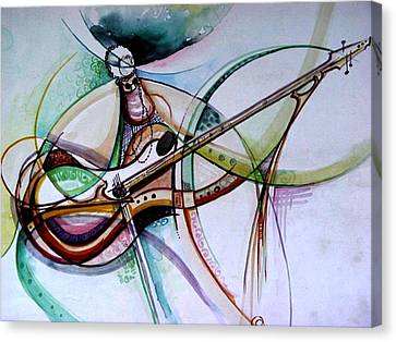 Rhythm Of The Strings Canvas Print by Oyoroko Ken ochuko
