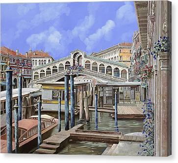 Rialto Dal Lato Opposto Canvas Print by Guido Borelli