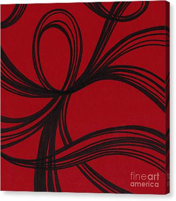Ribbon On Red Canvas Print by HD Connelly