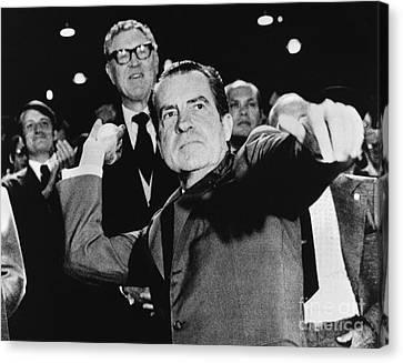 Richard Nixon (1913-1994) Canvas Print by Granger