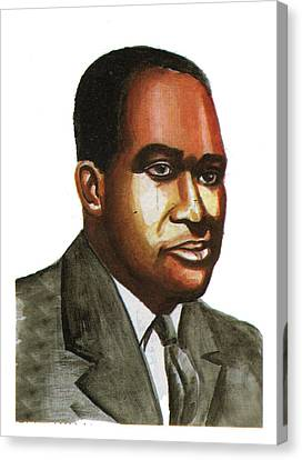 Richard Wright Canvas Print by Emmanuel Baliyanga