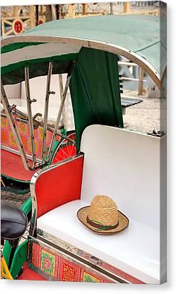 Rickshaw Canvas Print by Valentino Visentini