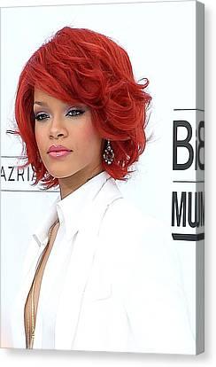 Rihanna At Arrivals For 2011 Billboard Canvas Print by Everett