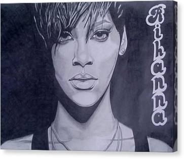 Rihanna Canvas Print by Lakeesha Mitchell