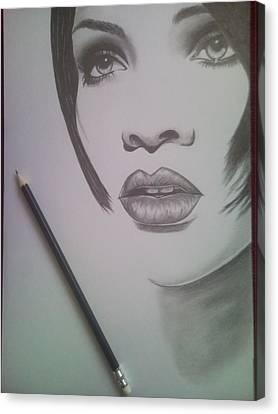 Rihanna Canvas Print by Lucia Vratiakova