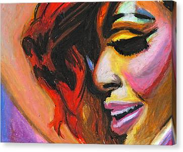 Rihanna Smile Canvas Print by Siobhan Bevans