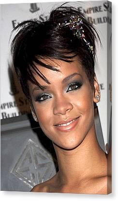 Rihanna Wearing A Cartier Tiara Canvas Print by Everett