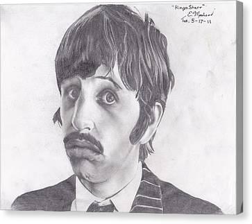 Ringo Starr Canvas Print by Ethan Morehead
