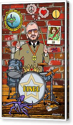 Ringo Starr Canvas Print by John Goldacker