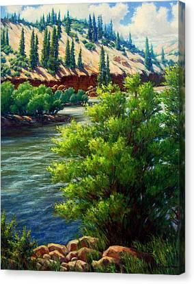 Rio Grande Colorado Canvas Print by Vickie Fears