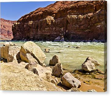 Ripple In The River Canvas Print by Jon Berghoff