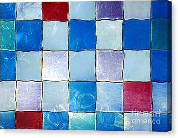 Ripple Tiles Canvas Print by Carlos Caetano