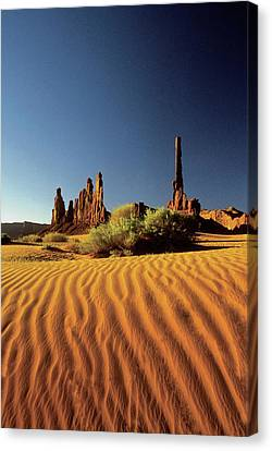 Ripples In The Sand, Monument Valley Tribal Park, Arizona, Usa Canvas Print by Medioimages/Photodisc