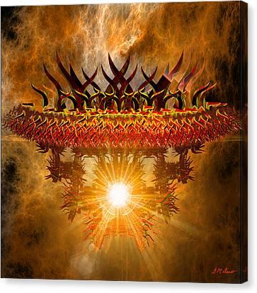 Rising Asian Sun Canvas Print by Michael Durst