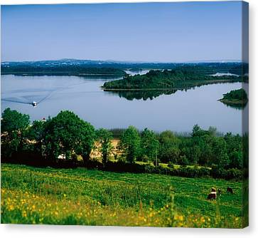 River Cruising, Upper Lough Erne Canvas Print by The Irish Image Collection
