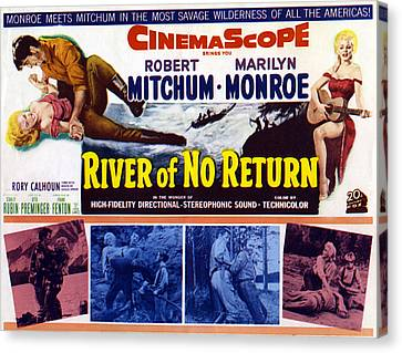 River Of No Return, Marilyn Monroe Canvas Print by Everett