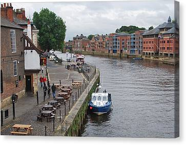 River Scene York England Canvas Print by Marcus Dagan