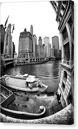 Riverwalk View Canvas Print by John Rizzuto