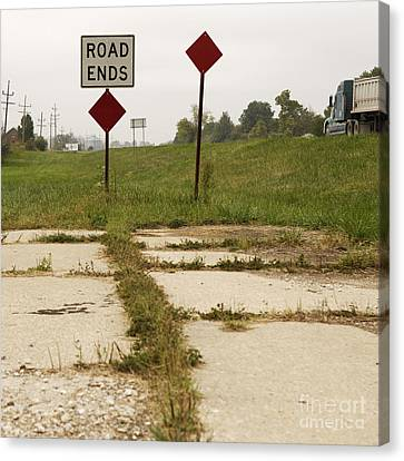 Road Ends Sign Canvas Print by Will & Deni McIntyre
