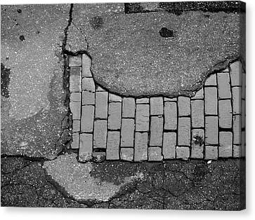 Road Textures Canvas Print by Mike McGlothlen