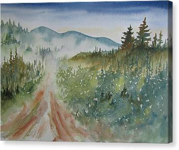 Road Through The Hills Canvas Print by Ramona Kraemer-Dobson