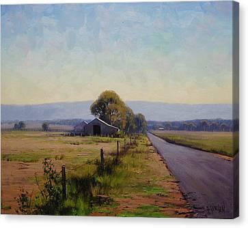 Road To Richmond Canvas Print by Graham Gercken