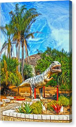Roadside Raptor Canvas Print by Gregory Dyer