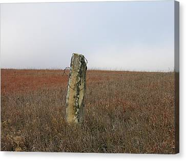 Rock Fence Post Canvas Print by Keith Stokes