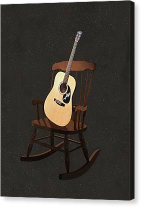 Rocks Canvas Print featuring the mixed media Rock Guitar by Eric Kempson
