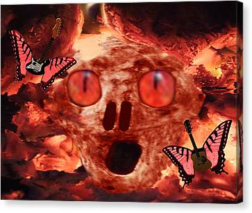 Rocks Canvas Print featuring the digital art Rock N Hell by Eric Kempson