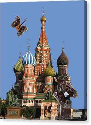 Rocks Canvas Print featuring the digital art Rock On Moscow by Eric Kempson