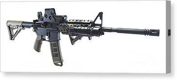 Rock River Arms Ar-15 Rifle Equipped Canvas Print by Terry Moore