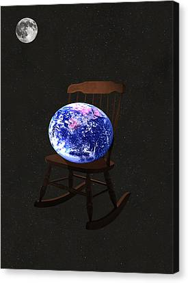 Rocks Canvas Print featuring the mixed media Rock The World by Eric Kempson