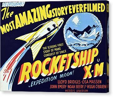Rocketship X-m, 1950 Canvas Print by Everett