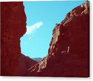 Rocks And Sky Canvas Print by Naxart Studio