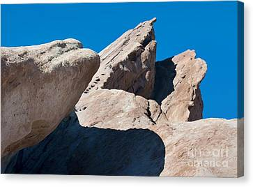 Rocks In Perspective Canvas Print by Dan Holm