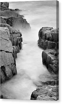 Rocky Coast Of Acadia - No 2  Canvas Print by Thomas Schoeller