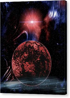 Rocky Extrasolar Planet Canvas Print by Victor Habbick Visions