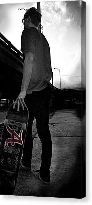 Roll Tide Skater  Canvas Print by Ley Clarie Gray