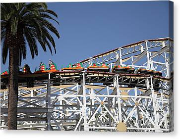 Roller Coaster - 5d17608 Canvas Print by Wingsdomain Art and Photography