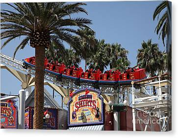 Roller Coaster - 5d17628 Canvas Print by Wingsdomain Art and Photography