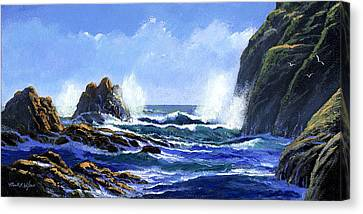 Rolling Surf Canvas Print by Frank Wilson