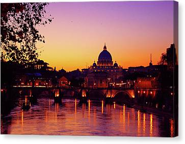 Roman Sunset Canvas Print by Karl Borg