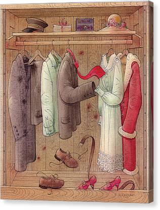 Romance In The Cupboard Canvas Print by Kestutis Kasparavicius