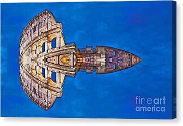 Romano Spaceship - Archifou 73 Canvas Print by Aimelle