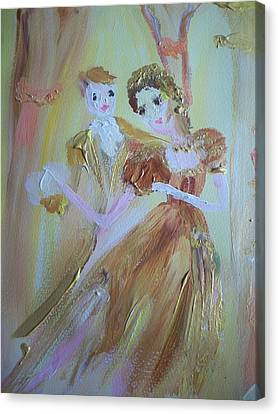 Romantic Encounter Canvas Print by Judith Desrosiers