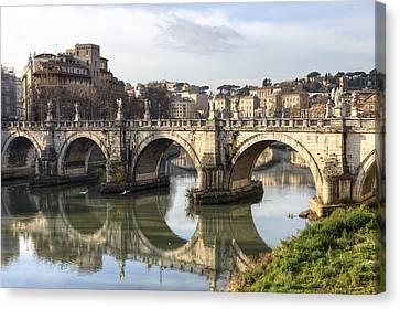 Rome - Ponte Sant'angelo Canvas Print by Joana Kruse