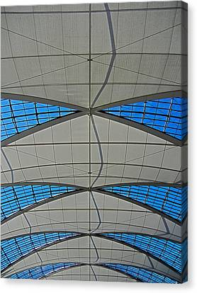 Roof Structure ... Canvas Print by Juergen Weiss