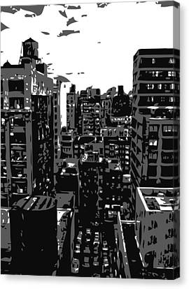 Rooftop Bw3 Canvas Print by Scott Kelley